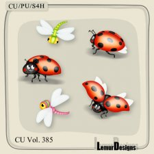 CU Vol 385 Ladybug Dragonfly by Lemur Designs