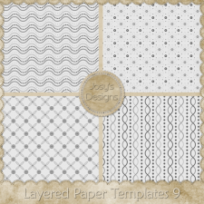 Layered Paper Templates 9 by Josy