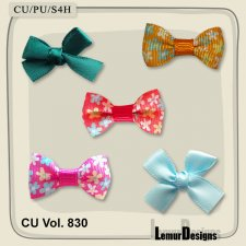 CU Vol 830 Bows by Lemur Designs