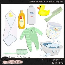 EXCLUSIVE Layered Bath Time Templates by NewE Designz