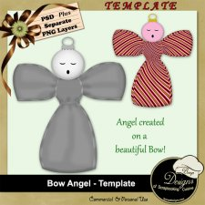 Bow Angel - TEMPLATE by Boop Designs
