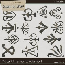 Metal Ornaments Vol 1 - EXCLUSIVE Designs by Ohana