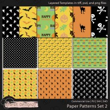 EXCLUSIVE Layered Paper Patterns Templates Set 2 by NewE Designz