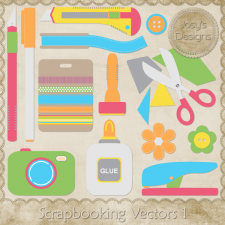 Craft Scrapbook Layered Vector Templates by Josy