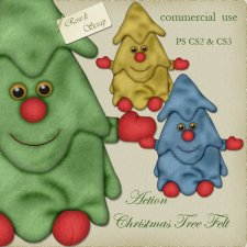 Action - Christmas Tree Felt by Rose.li