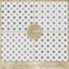 Layered Paper Templates 17 by Josy
