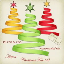 Action - Christmas Tree 02 by Rose.li