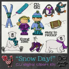Snow Day CU clipart