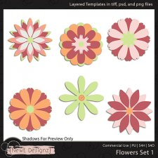 EXCLUSIVE Layered Flower Templates Set 1 by NewE Designz