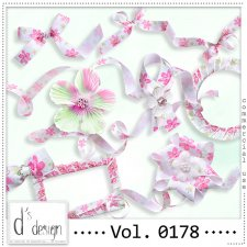 Vol. 0178 Floral Ribbons Mix by Doudou Design