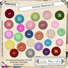 Buttons 01 Action by Cida Merola