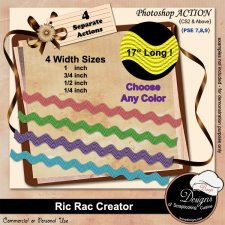 Ric Rac Ribbon Creator by Boop Designs