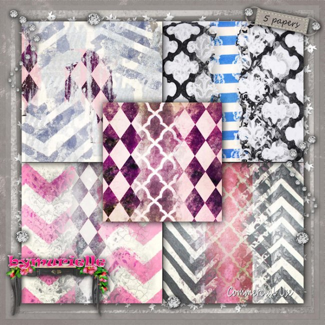 PAPERS Vol 108 Geometric EXCLUSIVE byMurielle