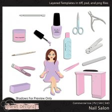 EXCLUSIVE Layered Nail Salon Templates By NewE Designz