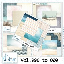Vol. 996 to 000 - Beach Papers by Doudou's Design