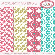Swirly overlays and digital papersLilmade Designs