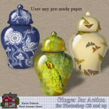Ginger Jar Action by Karen Stimson