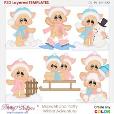 Maxwell and Patty Winter Adventure Layered Element Templates