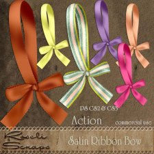 Action - Satin Ribbon Bow by Rose.li