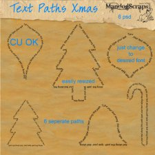 Text Paths Christmas by Mandog Scraps