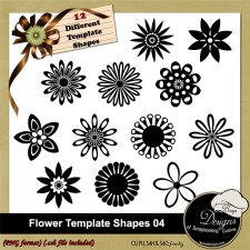 Flower Shapes TEMPLATES 04 by Boop Designs