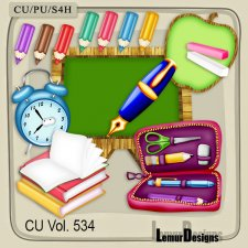 CU Vol 534 School Stuff by Lemur Designs