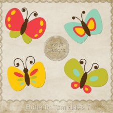 Butterfly Layered Templates 7 by Josy