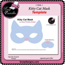 Kitty Cat Mask TEMPLATE by Boop Printable Designs