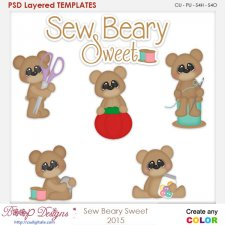 Sew Berry Sweet Layered Element Templates