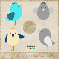 Bird Layered Templates 4 by Josy