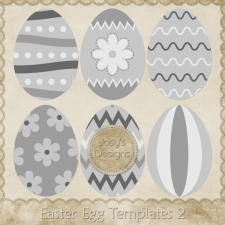 Easter Egg Layered Templates 2 by Josy