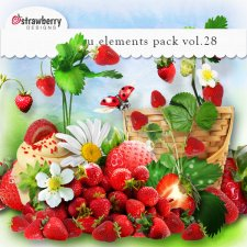 Strawberries Element Mix Vol 28 by Strawberry Designs