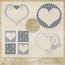 Valentine Frame Layered Templates by Josy