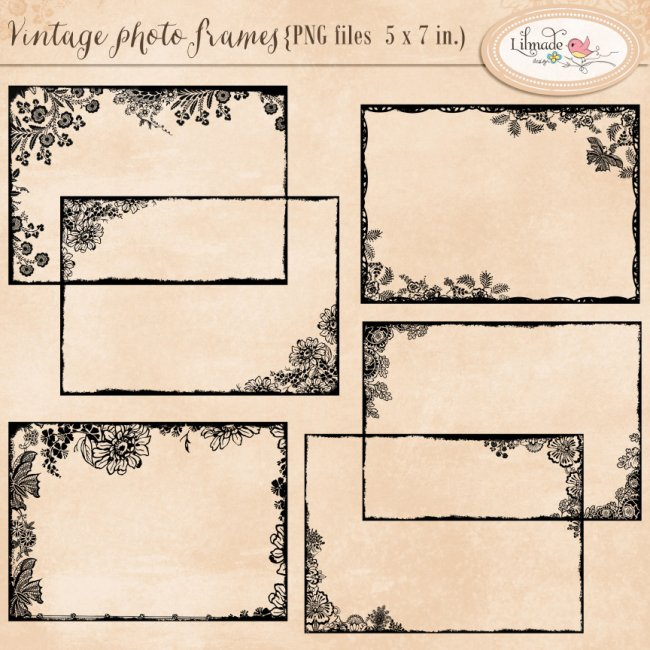 Shabby vintage photo frames 5 x 7 inches Lilmade Designs