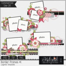 Border Cluster Frames Layered Templates Pack No 1