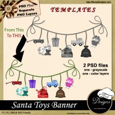 Santa Toy Banner TEMPLATE by Boop