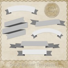 Scroll Banner Layered Templates 1 by Josy