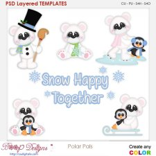 Polar Pals Layered Element Templates