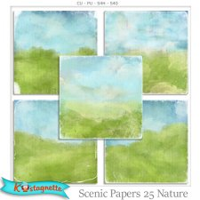 Scenic Papers 25 Nature by Kastagnette