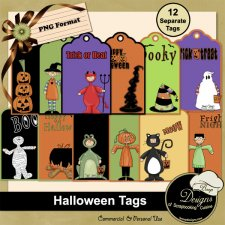 Halloween Tags by Boop Designs