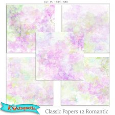 Classic Papers 12 Romantic by Kastagnette