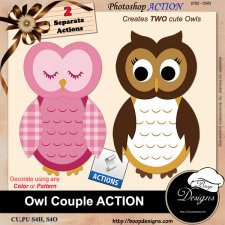 Owl Couple ACTION by Boop Designs