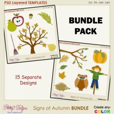 Signs of Autumn BUNDLE Layered TEMPLATES