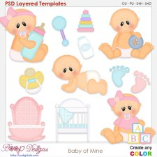 Baby of Mine Layered Element Templates