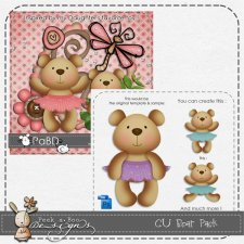 Bear Pack Layered Template by Peek a Boo Designs