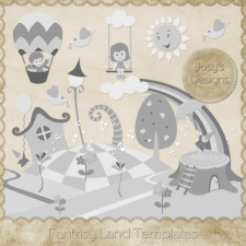 Fantasy Land Layered Templates by Josy