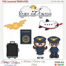 When I Grow Up Pilot Layered Element Templates