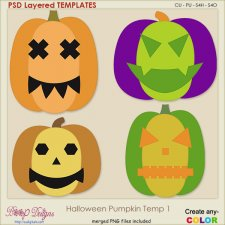 Halloween Pumpkin 01 Layered TEMPLATES