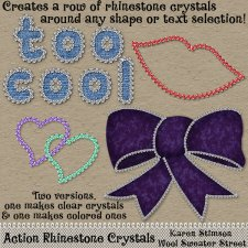 Action Rhinestone Crystals by Karen Stimson