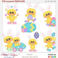 Easter Quack Ups Layered Element Templates